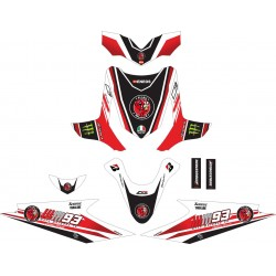 Stiker Motor Beat Marquest Red
