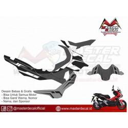 Stiker Motor Honda ADV Carbon