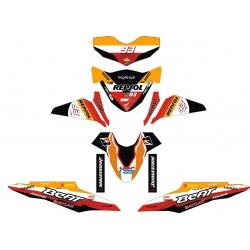 Stiker Motor BEAT-FI Repsol 2
