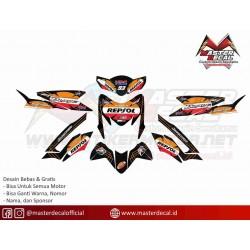 Stiker Motor Blade REPSOL