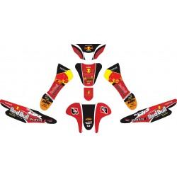 Stiker Motor Supra Fit Redbull