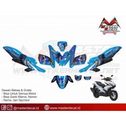 Stiker Yamaha Aerox 155 sonic