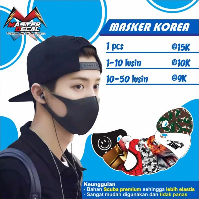 Masker Kain Scuba Desain Custom Sesukamu Quntity 1