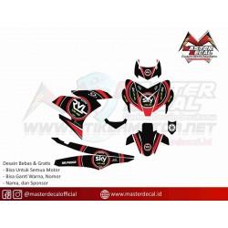Stiker Yamaha MX KING Sky Red