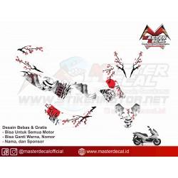STICKER MOTOR PCX JAPANESE