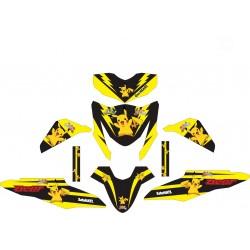Stiker Motor beat FI Pikachu
