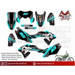 STIKER MOTOR KLX BF PANDA
