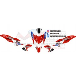 Stiker Yamaha Aerox 155 Red...