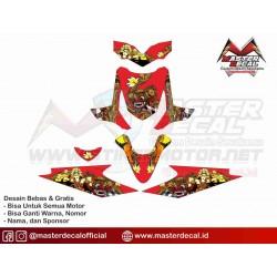 Stiker Motor Beat Barong Merah
