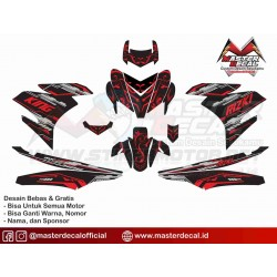 Stiker YAMAHA MX KING...