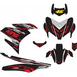 Stiker YAMAHA MX KING Hi-tech