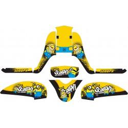 Stiker Motor Scoopy FI Minions
