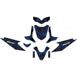 Stiker Motor Beat FOX BIRU