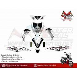 Stiker Yamaha Mio J Shark Grey