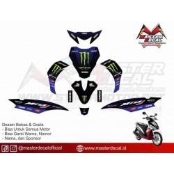 Stiker Yamaha Mio J Moto Gp...