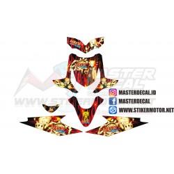 Stiker Motor Beat Carbu NARUTO