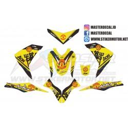 Stiker Yamaha MIO M3 Mu Yellow
